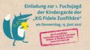 Einladung zur 1. Fuchsjagd der Kindergarde