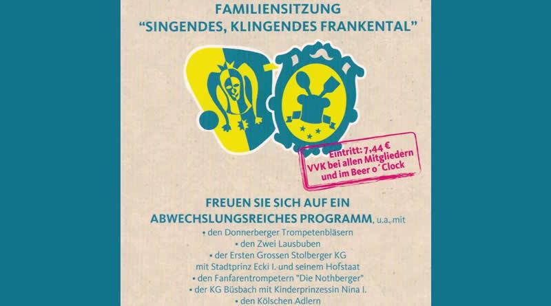 """Familiensitzung """"Singendes, Klingendes Frankental"""""""