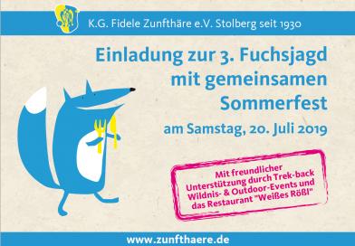 Sommerfest und 3. Fuchsjagd